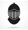Silhouette symbol of Knights Helmet vector image