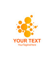 abstract circle logotype orange unusual isolated vector image vector image