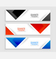 abstract set modern banners in triangle shapes vector image vector image