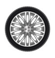 auto tyre or rubber wheel isolated on white vector image vector image