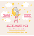 Baby Shower or Arrival Card - with Baby Bunny vector image vector image
