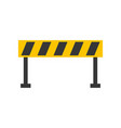 barrier traffic equipment warning caution vector image vector image