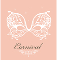 Beautiful lace masquerade mask vector image vector image