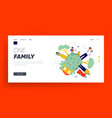 big happy family website landing page vector image