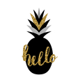 Black and Gold Pineapple Design vector image vector image