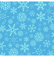 Blue Christmas Snowflakes abstract background vector image