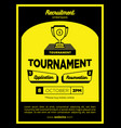bold yellow and black creative tournament vector image vector image