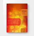 brochure design template with bokeh backgrounds vector image vector image