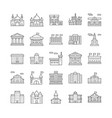 buildings line icons set vector image
