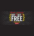 buy 2 get 1 free 5000x2000 pixel banner vector image vector image