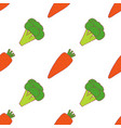 carrot and broccoli seamless pattern vector image