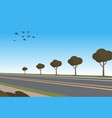 cartoon automobile highway vector image