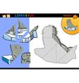 Cartoon walrus puzzle game vector image vector image