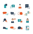 Chat Flat Icon Set vector image vector image