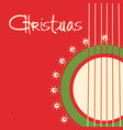christmas guitar background old poster vector image vector image