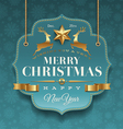 Christmas ornate labels with holidays greeting vector image