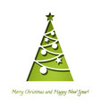 christmas tree papper background 3d vector image vector image