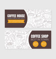 coffee shop advertising discount vouchers with vector image vector image