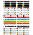 Collection of clean web buttons vector image vector image