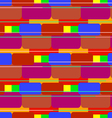 Colored bricks vector image vector image