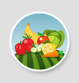 colorful emblem of vegetables and fruits vector image vector image