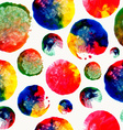 Colorful watercolor drop stain pattern vector image