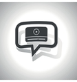 Curved mediaplayer message icon vector image vector image