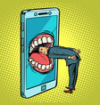 dangerous phone look online and the internet vector image