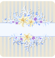 Decorative blue background with lily