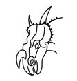 einiosaurus icon doodle hand drawn or black vector image vector image