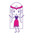 elf princess without wings and hair and dress on vector image