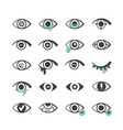 eyes icons ophthalmology medical symbols optical vector image
