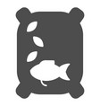 fish feed solid icon food for fish vector image vector image