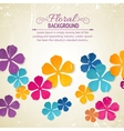 Flower backdrop vector image