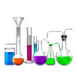 glass tube with different chemical liquid vector image