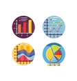 Graphs and diagrams icons set