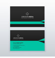 green and black business card design in simple vector image vector image