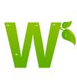 green eco letter w illiustration vector image