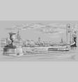grey hand drawing st petersburg 10 vector image