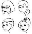 Hairstyles and makeup vector | Price: 1 Credit (USD $1)