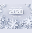 happy new year 2020 holidays background vector image