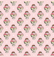 ice cream seamless pattern hand drawn sketch vector image vector image