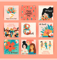 international women s day templates vector image vector image
