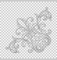 isolate corner ornament vector image vector image