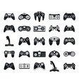 joystick game icons set simple style vector image