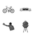metal business restaurant and other monochrome vector image