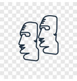 moai concept linear icon isolated on transparent vector image vector image
