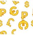 Money signs pattern cartoon style