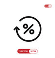 percentage icon vector image vector image