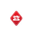 photographe an old style camera logo design in vector image vector image